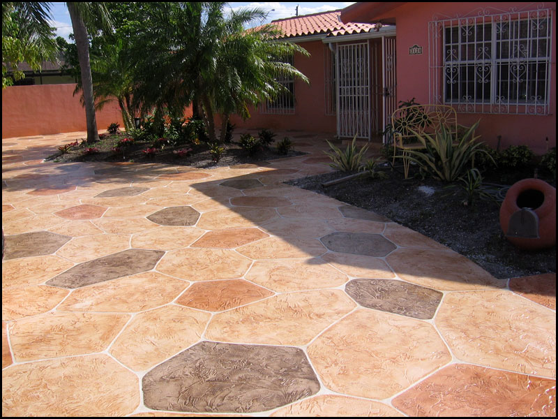 Stamped Concrete Stamping Photos Patterns Tips For