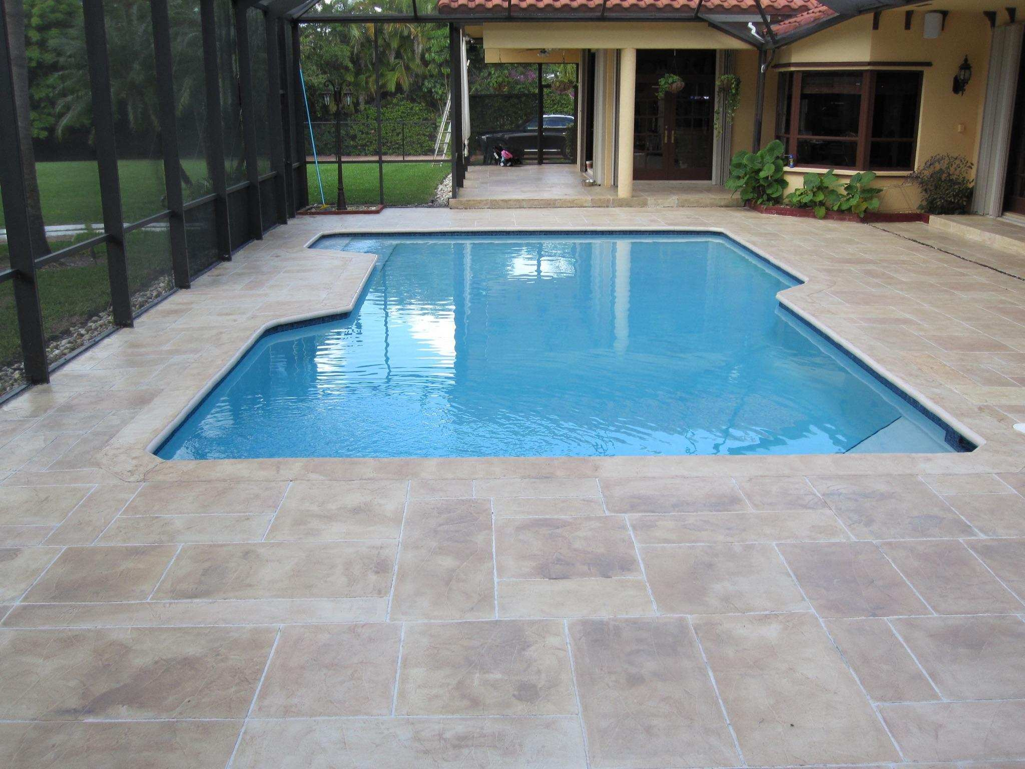 Miami Fl Representing The Stamped Concrete For Pool Decks